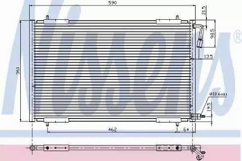 Nissens 94392 - Condenser, air conditioning uk-carparts.co.uk