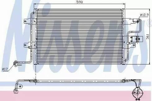 Nissens 94310 - Condenser, air conditioning uk-carparts.co.uk
