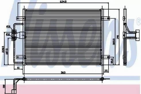 Nissens 94323 - Condenser, air conditioning uk-carparts.co.uk