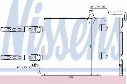 Nissens 94260 - Condenser, air conditioning uk-carparts.co.uk