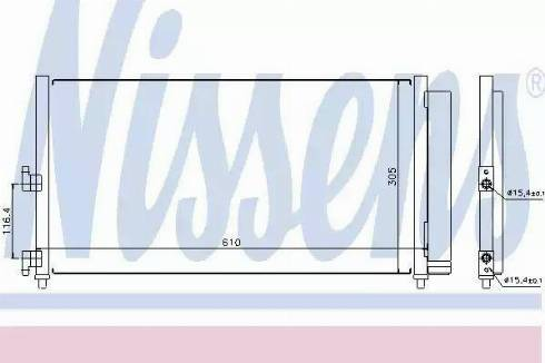 Nissens 94727 - Condenser, air conditioning uk-carparts.co.uk