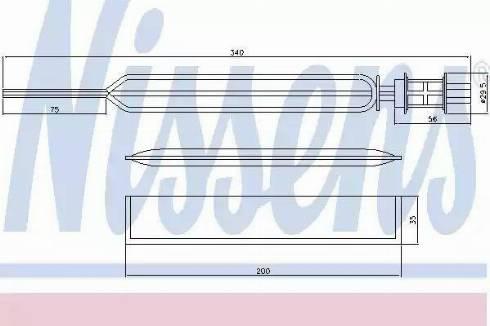 Nissens 95469 - Dryer, air conditioning uk-carparts.co.uk