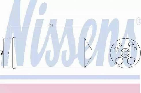 Nissens 95430 - Dryer, air conditioning uk-carparts.co.uk