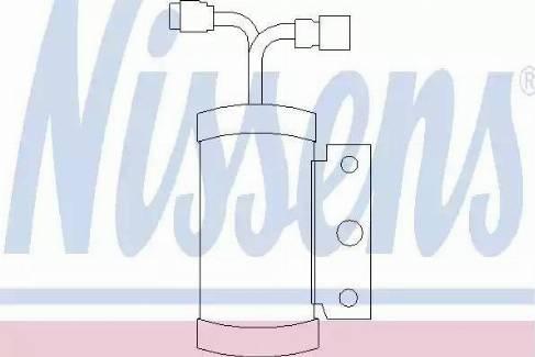 Nissens 95075 - Dryer, air conditioning uk-carparts.co.uk