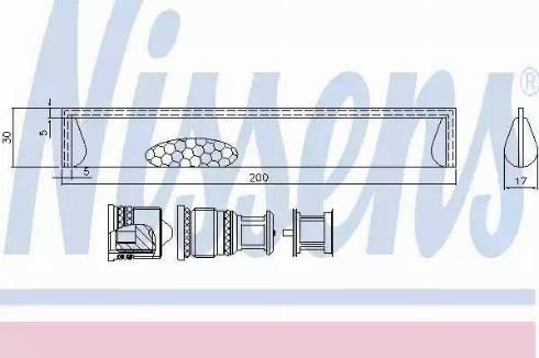Nissens 95351 - Dryer, air conditioning uk-carparts.co.uk