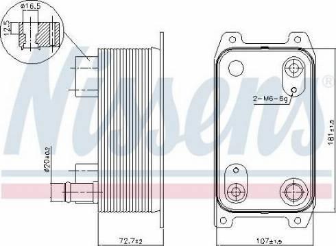 Nissens 90941 - Oil Cooler, automatic transmission uk-carparts.co.uk