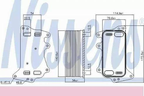 Nissens 90908 - Oil Cooler, automatic transmission uk-carparts.co.uk