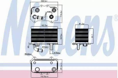 Nissens 90934 - Oil Cooler, manual transmission uk-carparts.co.uk