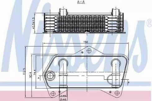 Nissens 90653 - Oil Cooler, automatic transmission uk-carparts.co.uk