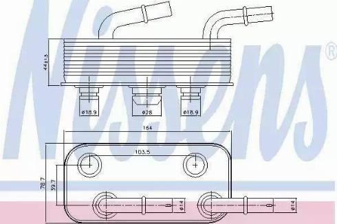 Nissens 90657 - Oil Cooler, automatic transmission uk-carparts.co.uk
