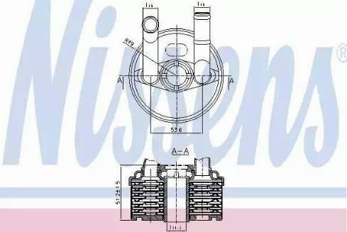 Nissens 90666 - Oil Cooler, automatic transmission uk-carparts.co.uk