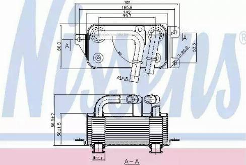 Nissens 90623 - Oil Cooler, automatic transmission uk-carparts.co.uk