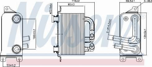 Nissens 90833 - Oil Cooler, automatic transmission uk-carparts.co.uk