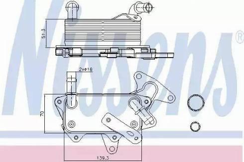 Nissens 90748 - Oil Cooler, automatic transmission uk-carparts.co.uk