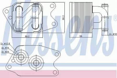 Nissens 90733 - Oil Cooler, automatic transmission uk-carparts.co.uk
