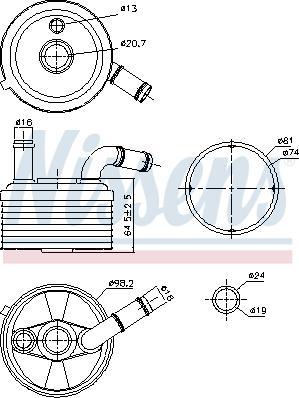Nissens 91185 - Oil Cooler, automatic transmission uk-carparts.co.uk