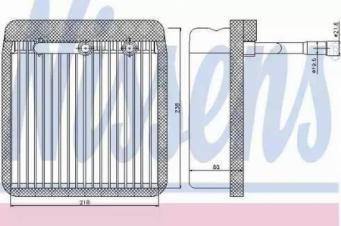 Nissens 92193 - Evaporator, air conditioning uk-carparts.co.uk