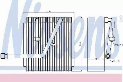 Nissens 92147 - Evaporator, air conditioning uk-carparts.co.uk