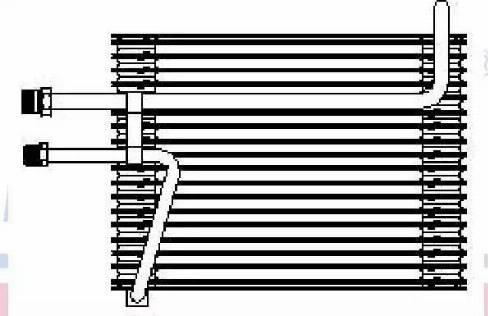 Nissens 92155 - Evaporator, air conditioning uk-carparts.co.uk