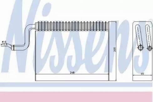Nissens 92150 - Evaporator, air conditioning uk-carparts.co.uk