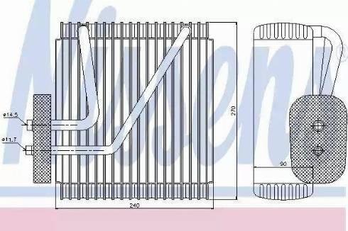 Nissens 92161 - Evaporator, air conditioning uk-carparts.co.uk
