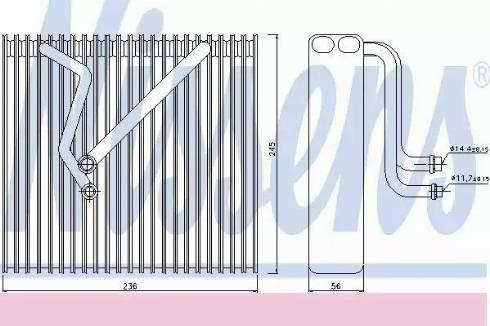 Nissens 92163 - Evaporator, air conditioning uk-carparts.co.uk