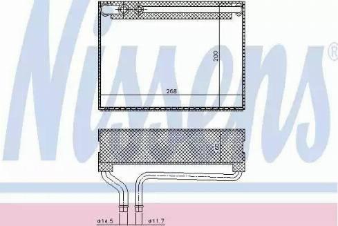 Nissens 92186 - Evaporator, air conditioning uk-carparts.co.uk