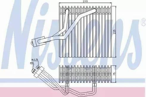 Nissens 92176 - Evaporator, air conditioning uk-carparts.co.uk