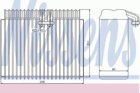 Nissens 92171 - Evaporator, air conditioning uk-carparts.co.uk