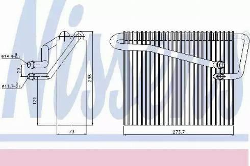 Nissens 92301 - Evaporator, air conditioning uk-carparts.co.uk