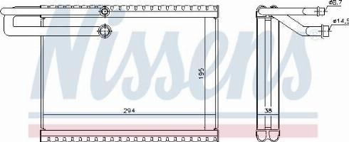 Nissens 92323 - Evaporator, air conditioning uk-carparts.co.uk