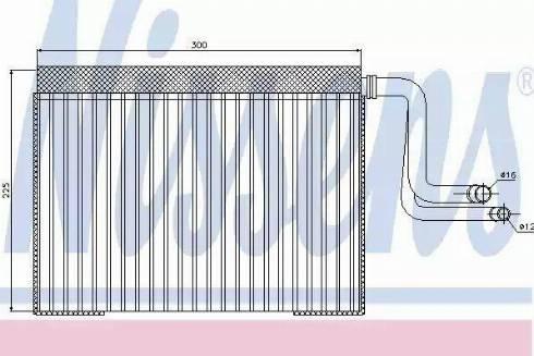 Nissens 92268 - Evaporator, air conditioning uk-carparts.co.uk