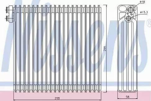 Nissens 92213 - Evaporator, air conditioning uk-carparts.co.uk