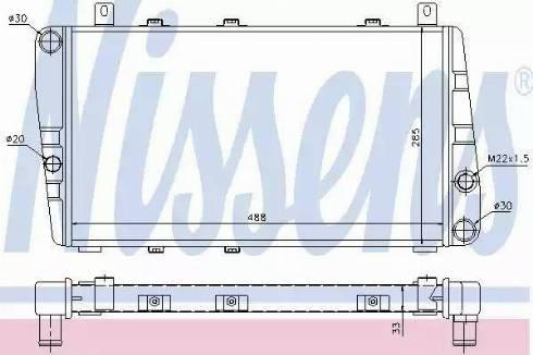 Nissens 64011 - Radiator, engine cooling uk-carparts.co.uk