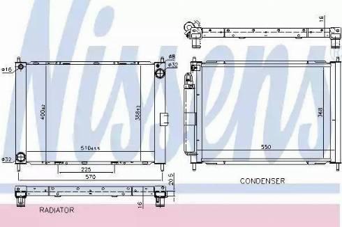 Nissens 68757 - Cooler Module uk-carparts.co.uk