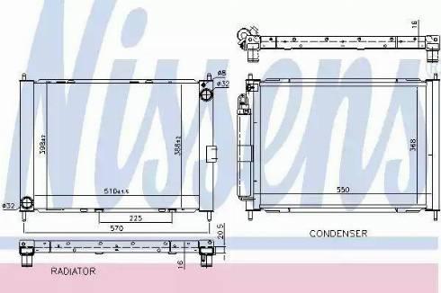 Nissens 637654 - Cooler Module uk-carparts.co.uk