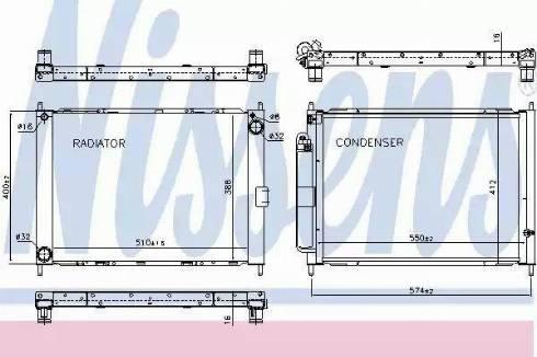 Nissens 637625 - Cooler Module uk-carparts.co.uk