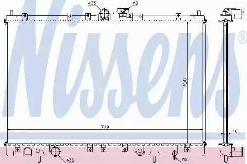 Nissens 62806A - Radiator, engine cooling uk-carparts.co.uk