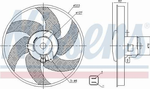 Nissens 85950 - Fan, radiator uk-carparts.co.uk