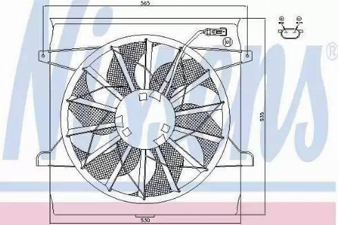 Nissens 85542 - Fan, radiator uk-carparts.co.uk