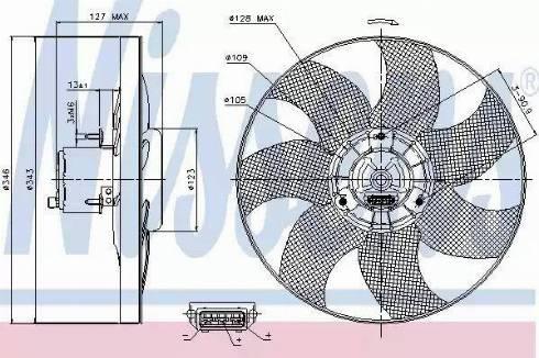 Nissens 85698 - Fan, radiator uk-carparts.co.uk