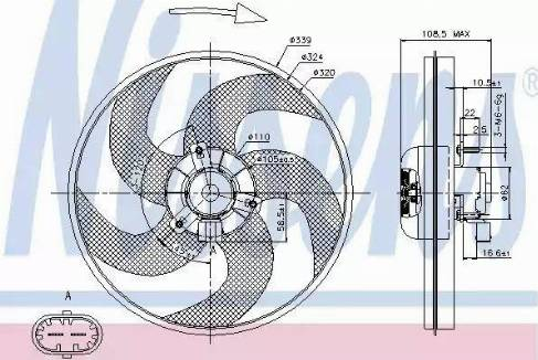 Nissens 85672 - Fan, radiator uk-carparts.co.uk