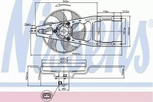 Nissens 85134 - Fan, radiator uk-carparts.co.uk
