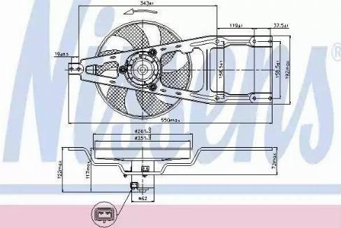 Nissens 85135 - Fan, radiator uk-carparts.co.uk