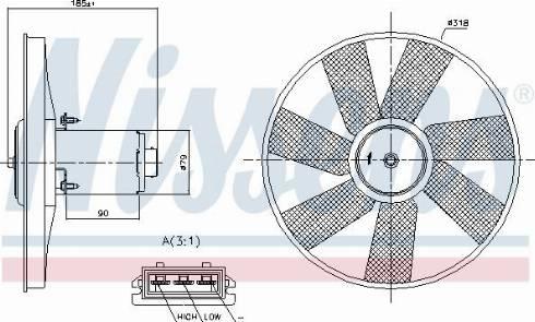 Nissens 85838 - Fan, radiator uk-carparts.co.uk