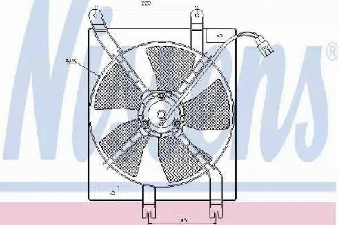 Nissens 85356 - Fan, radiator uk-carparts.co.uk