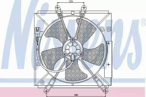 Nissens 85330 - Fan, radiator uk-carparts.co.uk