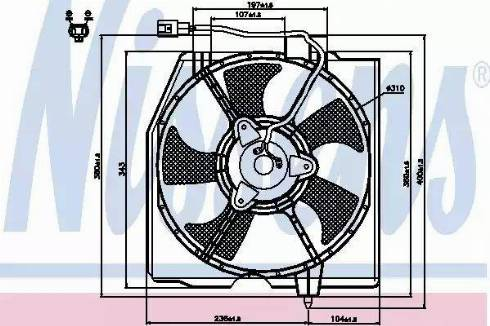 Nissens 85224 - Fan, radiator uk-carparts.co.uk
