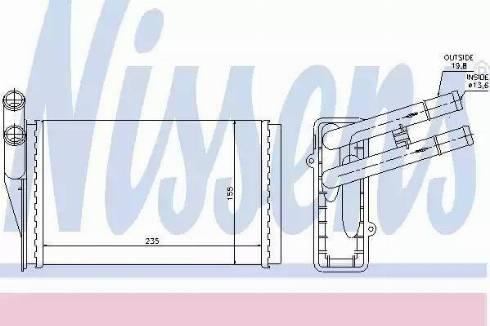 Nissens 70224 - Heat Exchanger, interior heating uk-carparts.co.uk