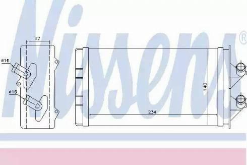Nissens 71449 - Heat Exchanger, interior heating uk-carparts.co.uk